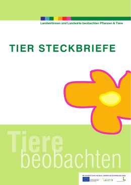 Steckbriefe Tiere