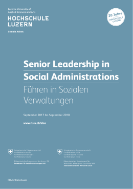 Senior Leadership in Social Administrations Führen in Sozialen