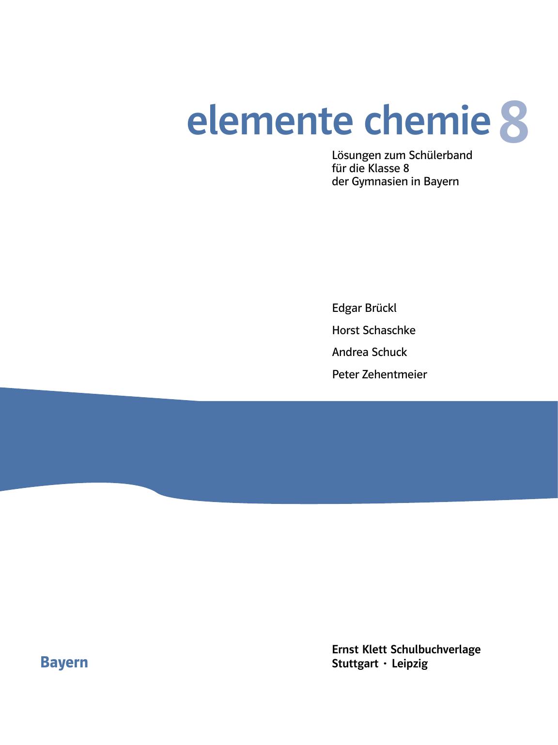elemente chemie - Ernst Klett Verlag