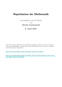 Repetitorium der Mathematik