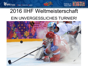2016 IIHF Weltmeisterschaft - Majunke International Sales
