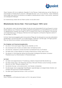 Mitarbeitenden Service Desk / First-Level