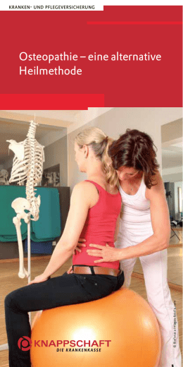 Osteopathie – eine alternative Heilmethode