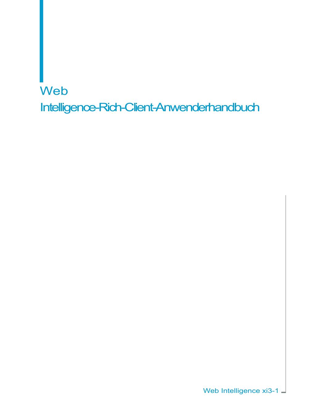 Web Intelligence-Rich-Client-Anwenderhandbuch