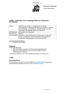 LLBA – Linguistic and Language Behavior Abstracts (ProQuest