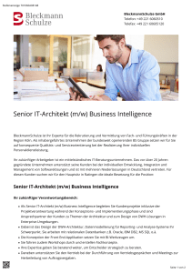 Senior IT-Architekt (m/w) Business Intelligence