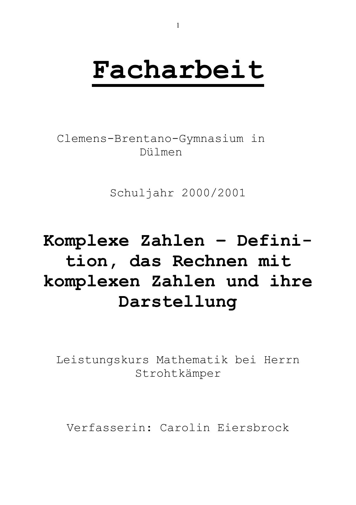 Facharbeit - Fundus.org