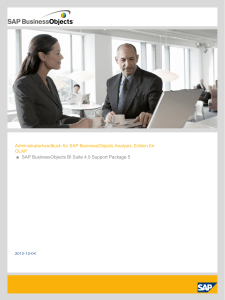 Administratorhandbuch für SAP BusinessObjects