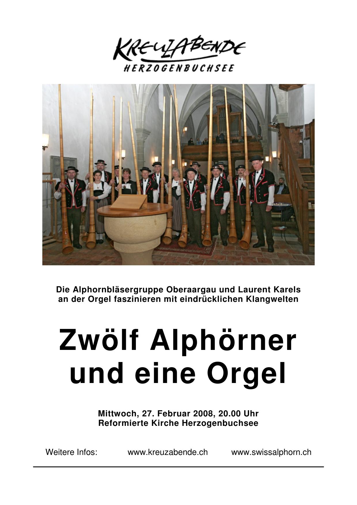 Alphorn Weihnachtslieder.Alphorn Kreuzabende Herzogenbuchsee