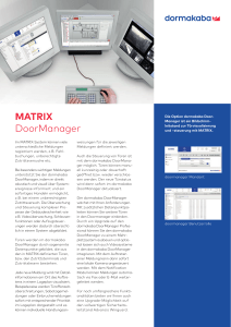 MATRIX DoorManager