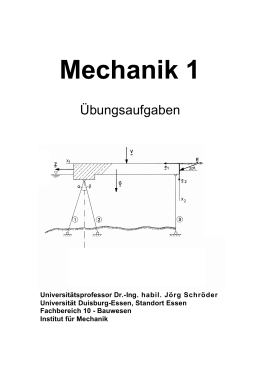 Mechanik 1 - an der Universität Duisburg