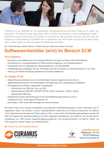 Softwareentwickler ECM CURAMUS