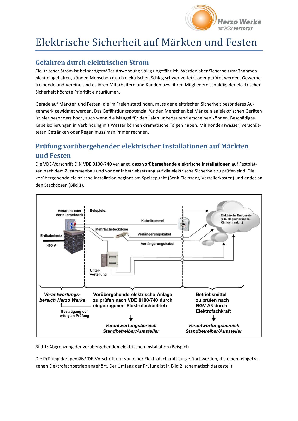 merkblatt elektrische sicherheit auf mrkten und - Prufprotokoll Bgv A3 Muster