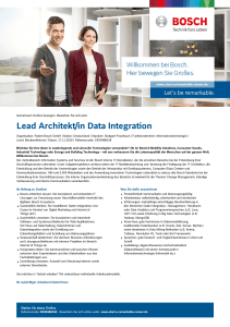 Lead Architekt/in Data Integration - Bosch