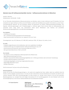 (Senior) Java EE Softwareentwickler (m/w) – Softwareunternehmen
