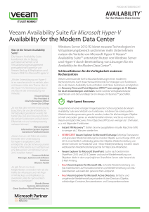 Availability for the Modern Data Center
