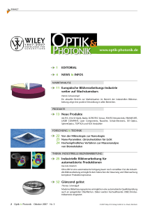 www.optik-photonik.de - Wiley-VCH