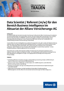 Data Scientist / Referent (m/w) für den Bereich Business