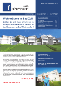 Wohnträume in Bad Zell