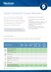 Support Services für Juniper Networks