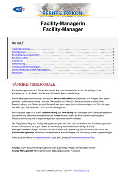 Facility-Managerin Facility-Manager