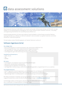 Software-Ingenieure (m/w) - Data Assessment Solutions