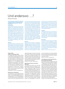 Und anderswo - Swiss Medical Forum