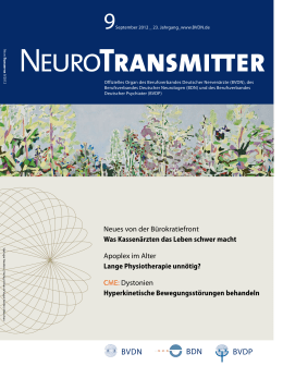 NeuroTransmitter vom September 2012