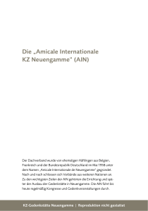 "Die ""Amicale Internationale KZ Neuengamme"" (AIN)"