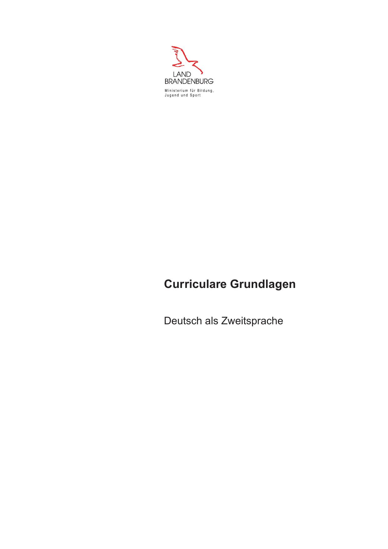 Curriculare Grundlagen - Bildungsserver Berlin