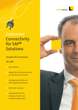 Cubeware Connectivity for SAP® Solutions - Controlling