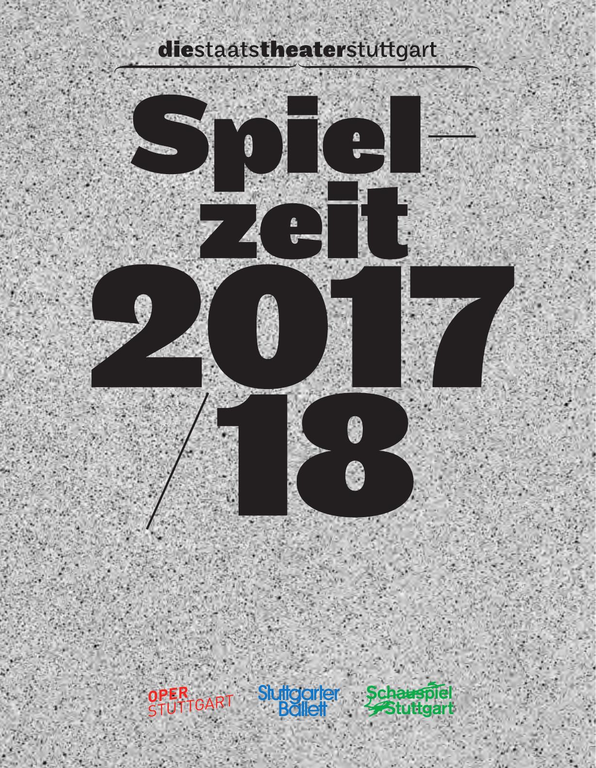 Das Jahrbuch 2017/2018 der Staatstheater Stuttgart