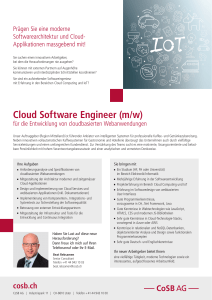 Cloud Software Engineer (m/w)
