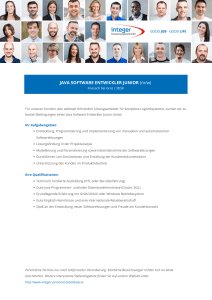 JAVA SOFTWARE ENTWICKLER JUNIOR (m/w)