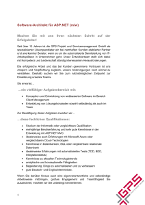 Software-Architekt für ASP.NET (m/w) - GPS Projekt