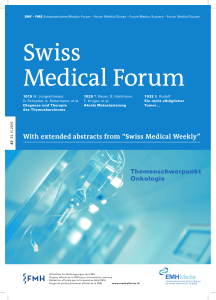 "With extended abstracts from ""Swiss Medical Weekly"""