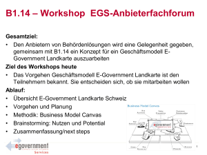 Workshop EGS-Anbieterfachforum