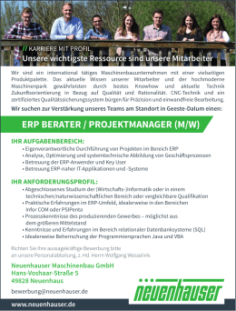 erp berater / projektmanager (m/w)