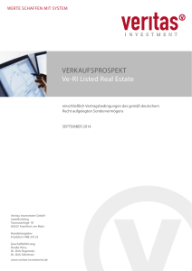 VERKAUFSPROSPEKT Ve-RI Listed Real Estate
