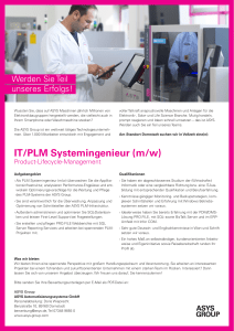 IT/PLM Systemingenieur (m/w)