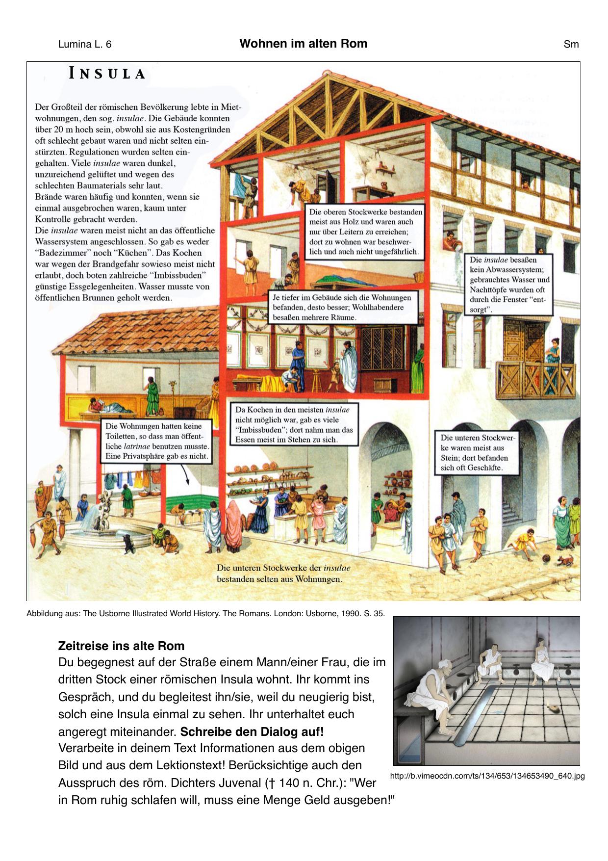 Essen im alten rom unterrichtsmaterial