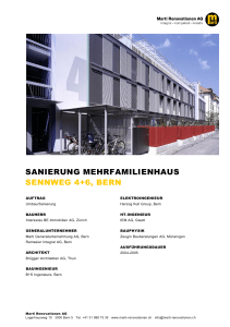 Sennweg 4+6, Bern - Marti Renovationen AG