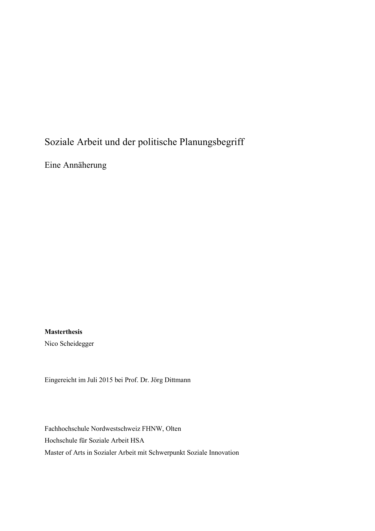 master thesis fhnw soziale arbeit
