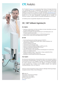 C# / .NET Software Ingenieur/in