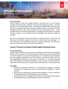 (Junior) Technical Consultant Adobe Digital Marketing Cloud