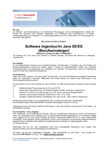 Software Ingenieur/in Java SE/EE (Berufseinsteiger)