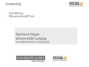 Gerhard Heyer Universität Leipzig