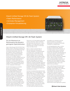Hitachi Unified Storage VM All-Flash-System
