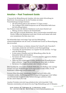 Amalian – Post Treatment Guide