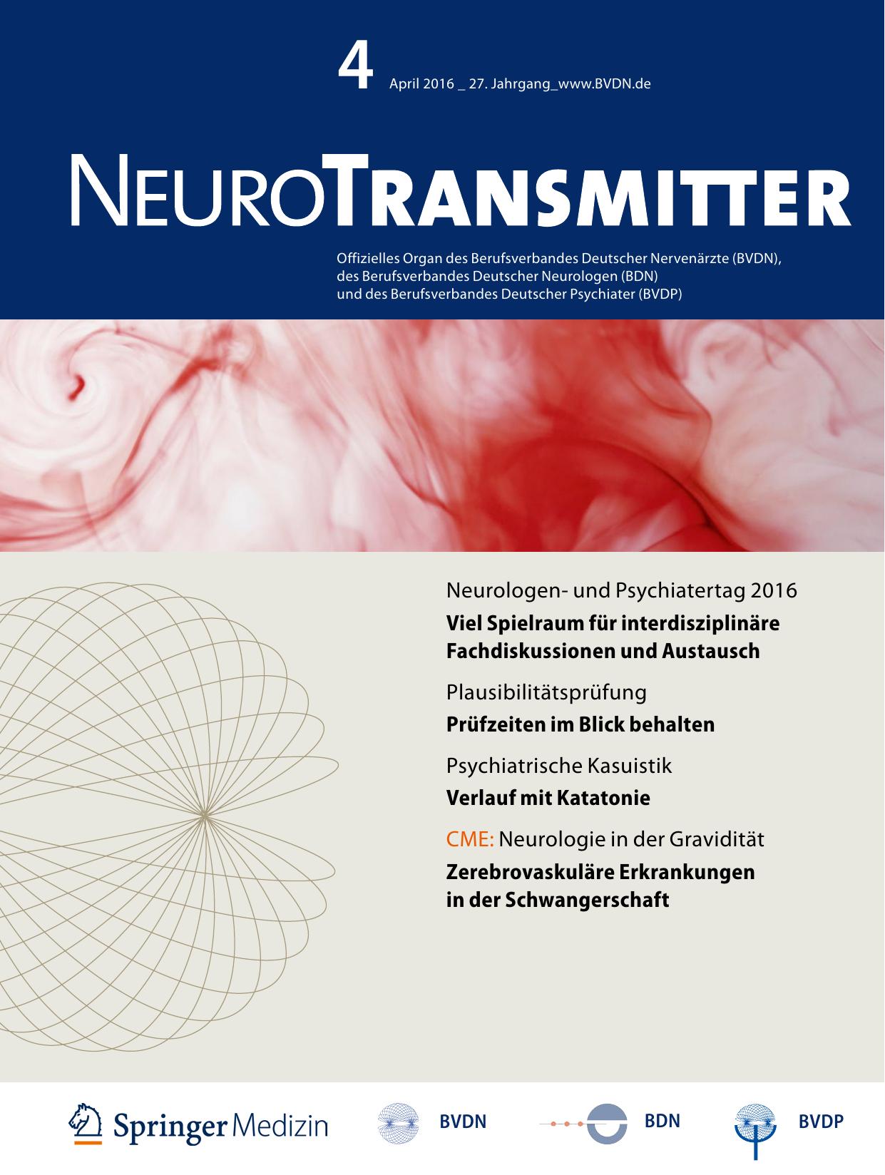 Neurologen- und Psychiatertag 2016 Viel Spielraum für